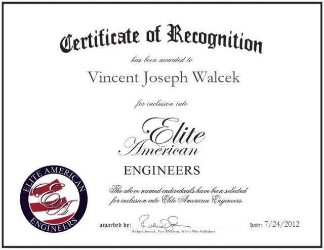 Vincent Joseph Walcek